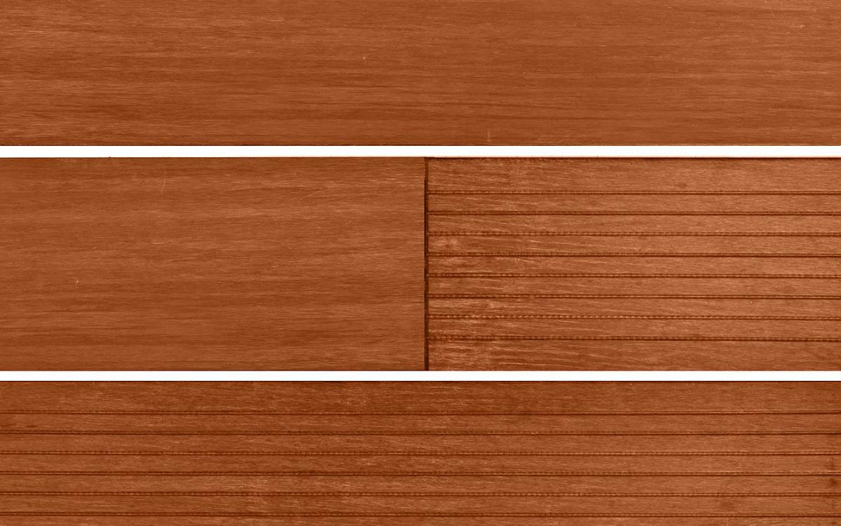 Terrassendiele braun, grobes + glattes Profil