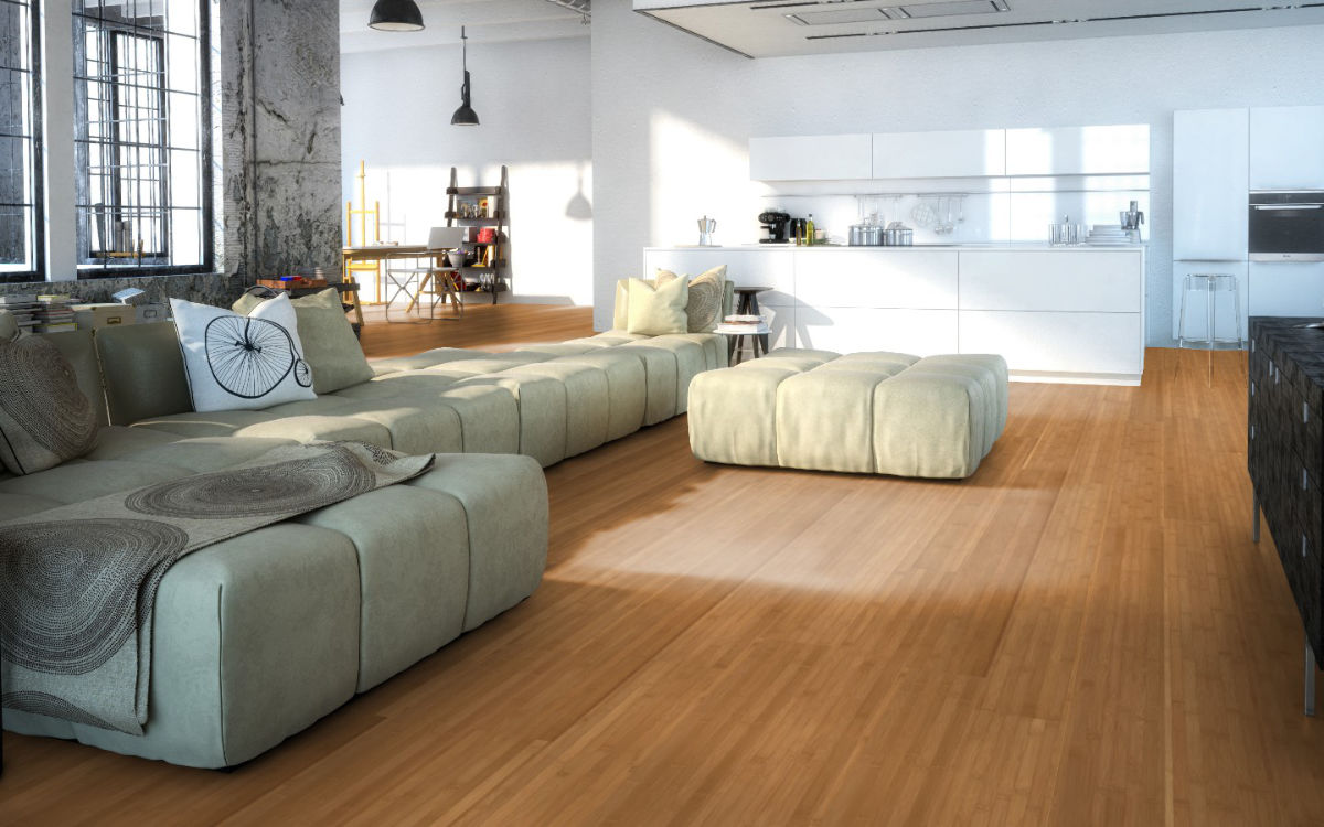 XL Landhausdiele, Breitlamelle, Natur Braun, großer Wohnbereich